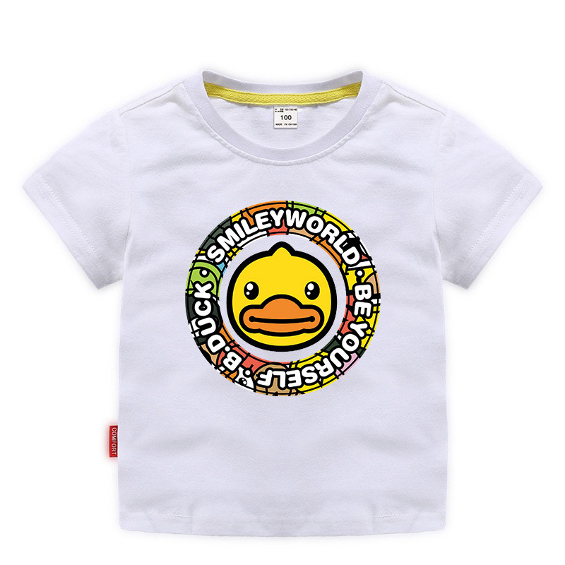 Toddle Boys Print Yellow Duck Slogan Cotton T-shirt