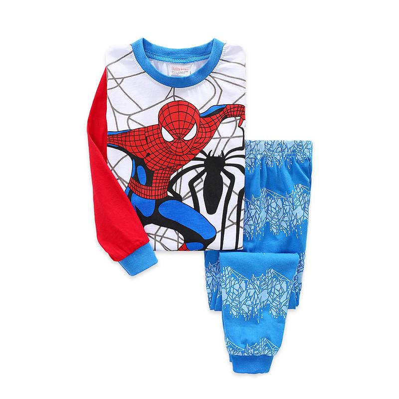 Toddler Boy Print Spiderman Super Hero Marvel Pajamas Sleepwear Long Sleeve Tee & Leggings 2 Pieces Sets