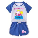 Toddler Kids Girl Peppa Pig Angel Summer Short Pajamas Sleepwear Set Cotton Pjs