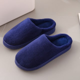 Couples Cozy Soft Solid Color Coral fleece Slides Indoor Home House Winter Warm Sole Slippers