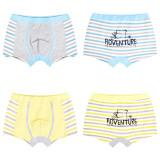 Kid Boys 2 Packs Print Stripes Bear Boxer Briefs Cotton Underwear