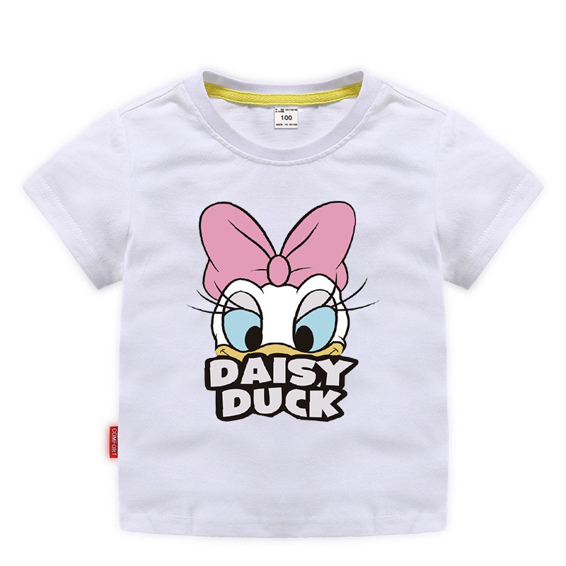 Toddler Girls Print Donald Duck Daisy Cotton T-shirt