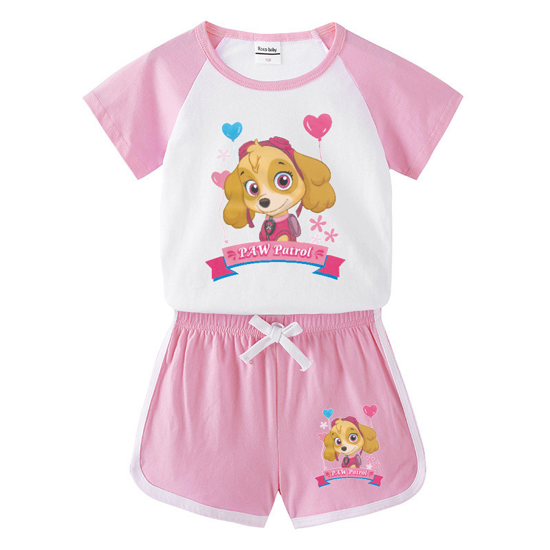 Toddler Kids Girl PAW Patrol Summer Short Pajamas Sleepwear Set Cotton Pjs