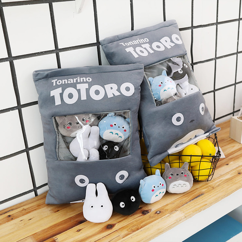 Cute Totoro Plush Bag Soft Toy Throw Pillow Pudding Pillow Creative Gifts