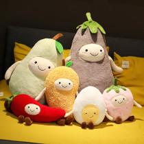 Cute Fruit Pear Fried Egg Pillow Stuffed Plush Dolls for Kids Gift