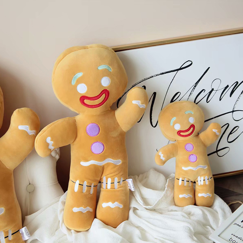Cute Gingerbread Cookies Stuffed Plush Dolls for Kids Gift