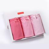 Kid Girls 3 Packs Pink Bowknot Brief Cotton Underwear
