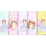 Kid Girls 5 Packs Sofia Princess Brief Cotton Underwear