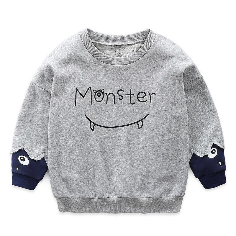 Toddler Boys Monster Pullover Sweatshirt