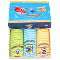 Kid Boys 3 Packs Super Plane flying Boxers Brief Cotton Cartoon Underwear