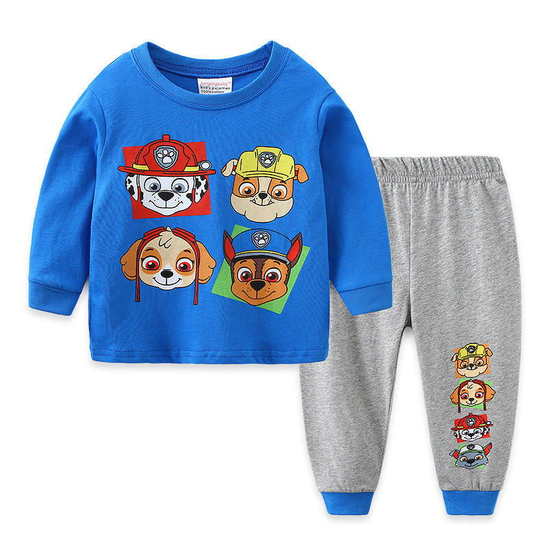 Toddler Boy Print Cartoons PAW Patrol Dogs Pajamas Sleepwear Long Sleeve Tee & Leggings 2 Pieces Sets