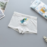 Kid Boys 5 Packs Prints Dinosaurs Crocodiles Boxer Briefs Cotton Underwear