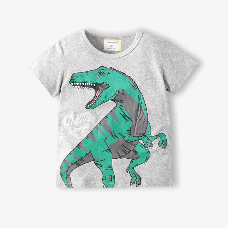 Toddle Boys Print Dinosaur Cotton T-shirt