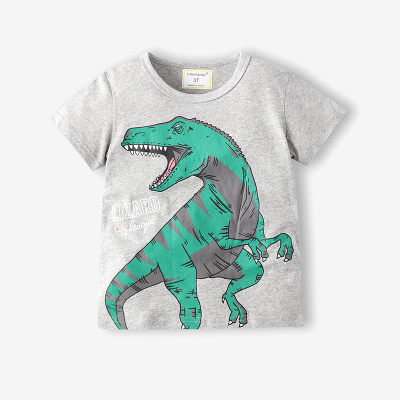 Toddle Boys Print Dinosaur Cotton T-shirt