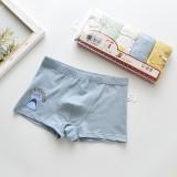 Kid Boys 5 Packs Print Shark Crocodiles Boxer Briefs Cotton Underwear
