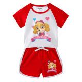 Toddler Kids Girl PAW Patrol Summer Short Pajamas Sleepwear Set Cotton Pjs
