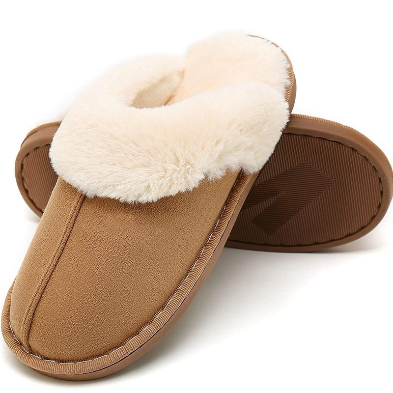 Couples Cozy Fluffy Soft Plush Fuzzy Memory Foam Splicing Slides Indoor House Winter Warm Home Slippers