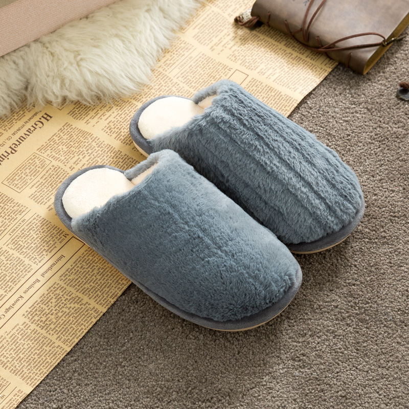 Men Cozy Cute Soft Plush Slides Indoor Home House Winter Warm Slippers