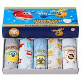 Kid Boys 5 Packs Super Plane flying Brief Cotton Cartoon Underwear