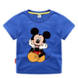 Toddle Boys Print Mickey Mouse Cotton T-shirt