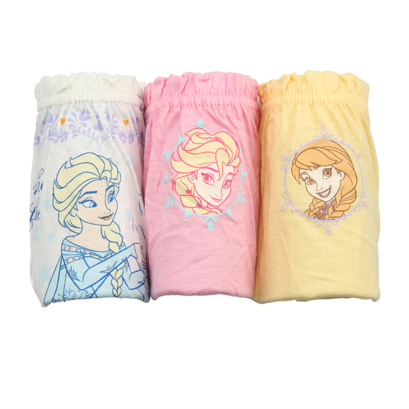 Kid Girls 5 Packs Cartoon Frozen Brief Cotton Underwear