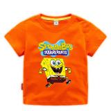Toddle Boys Print Spongebob Cotton T-shirt