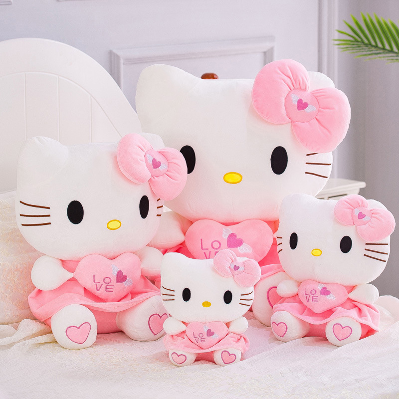 Love Hello Kitty Angle Cat Stuffed Plush Dolls for Kids Gift