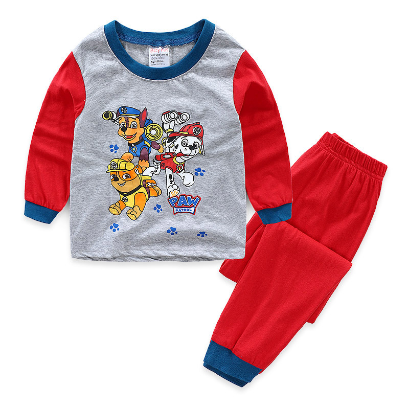 Toddler Boy Print Cartoons PAW Patrol Pajamas Sleepwear Long Sleeve Tee & Leggings 2 Pieces Sets