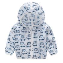 Toddler Kids Boy Print Cars Breathable Lightweight Sunscreen Outerwear Coats