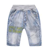 Toddler Boys Prints Letter Ripped Denim Summer Shorts