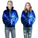 Toddler Kids Boy Girl 3D Print Wolf Hooded Sweatshirts