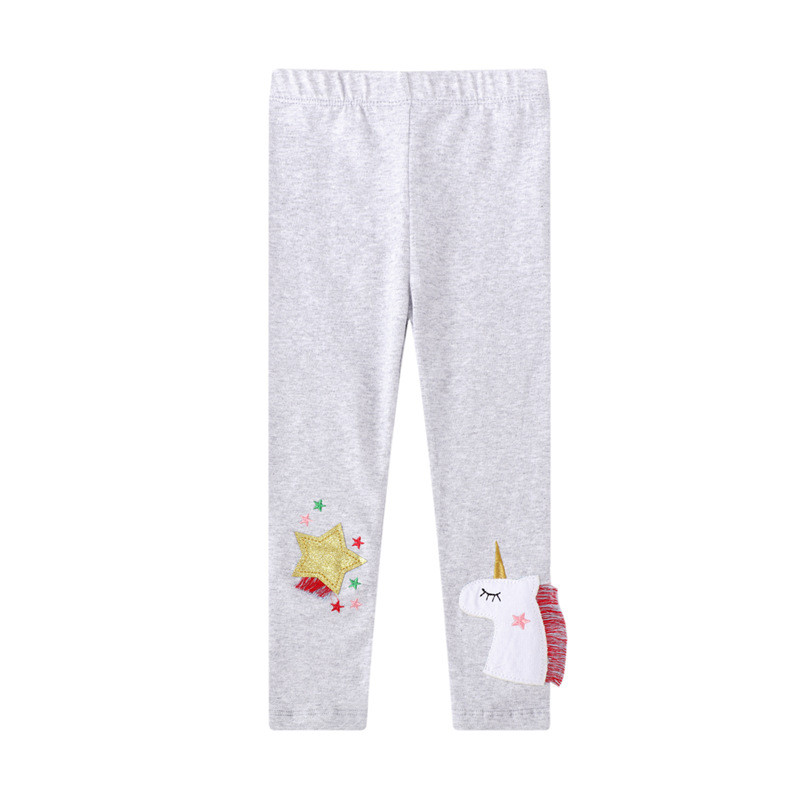 Toddler Kid Girl Print Unicorn Stars Cotton Leggings Pants