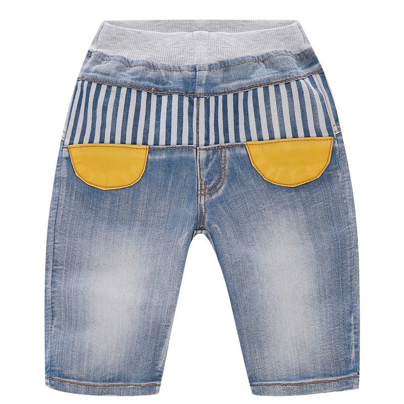 Toddler Boys Print Striped Denim Summer Shorts