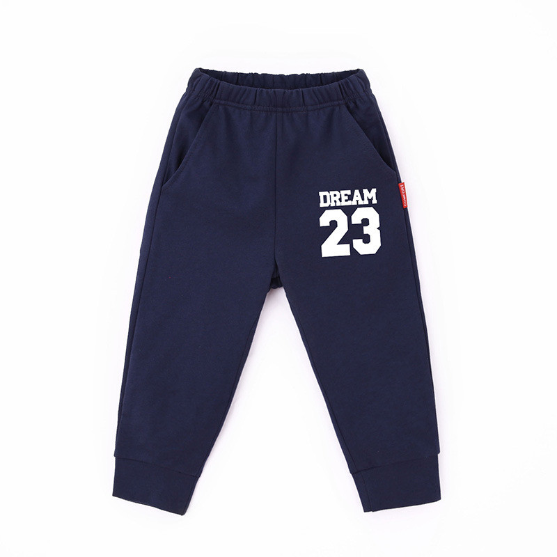 Toddler Boy Prints Numbers Letter Jogger Cotton Pants