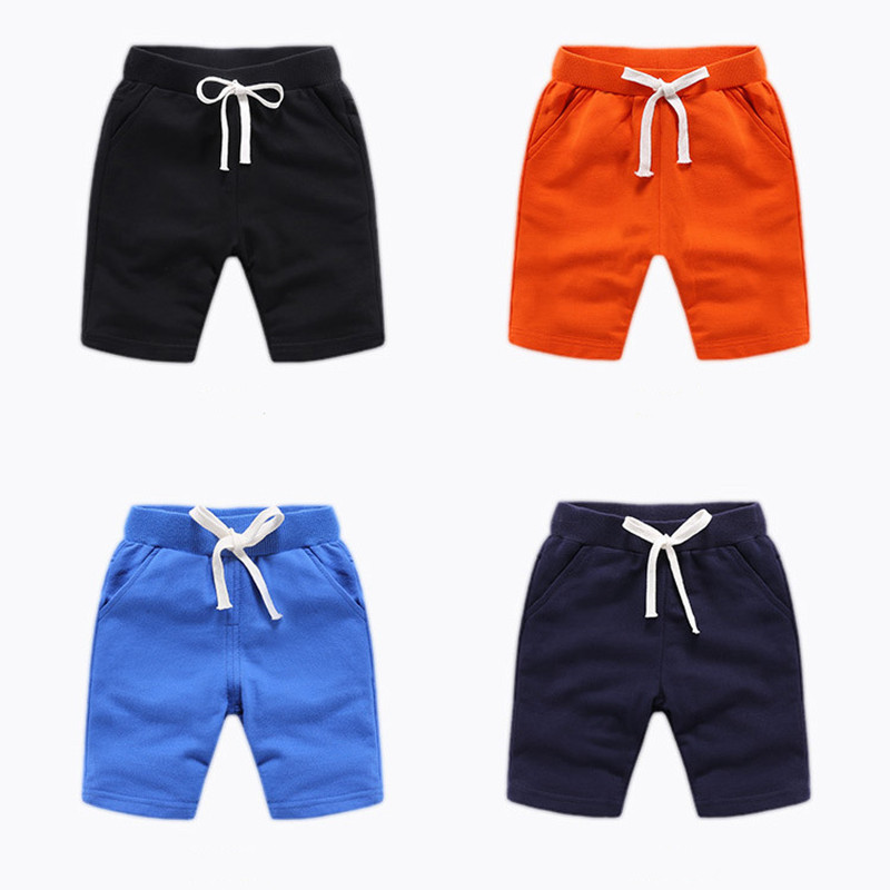 Toddler Boys Pure Color Cotton Summer Shorts