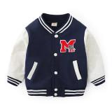 Toddler Kids Boy Print Letter Baseball Jacket Sports Outerwear