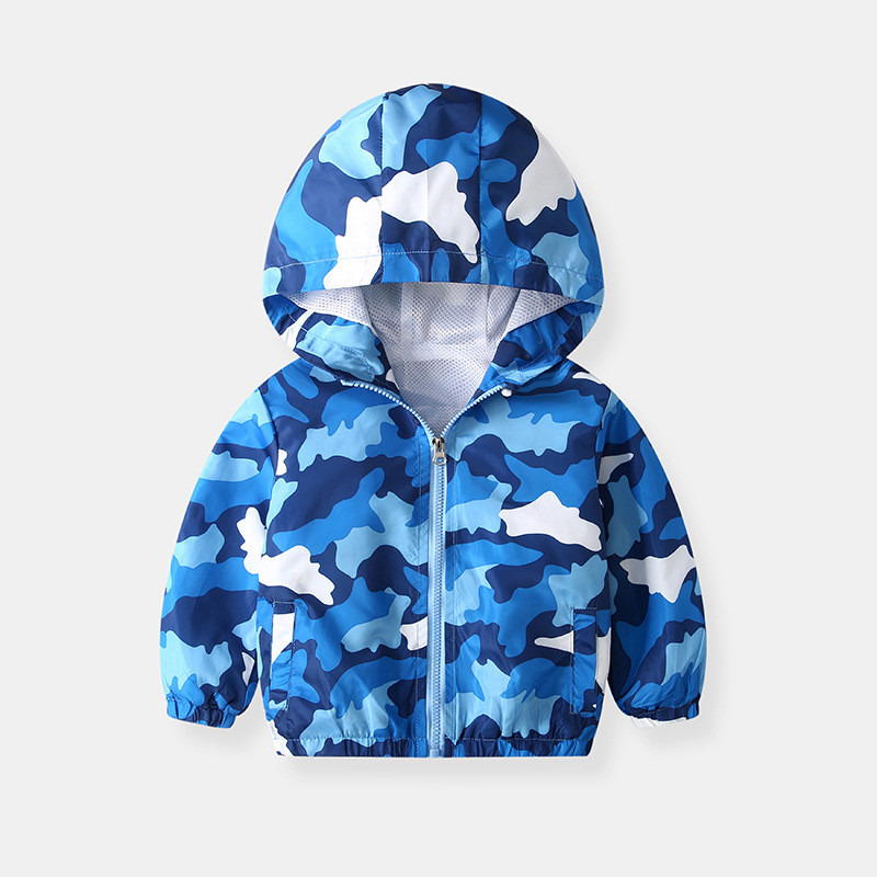 Toddler Kids Boy Blue Camouflage Outerwear Coats