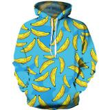 Toddler Kids Boy Girl 3D Print Bananas Hooded Sweatshirts