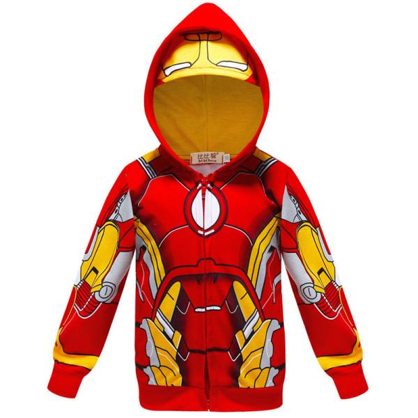 Toddler Kids Boy Marvel Superhero Iron Man Hooded Outerwear Coats