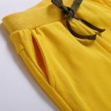 Toddler Boys Pure Color Cotton Summer Shorts