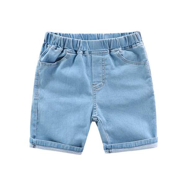 Toddler Boys Pure Color Quality Denim Summer Shorts