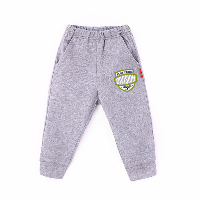 Toddler Boy Print Letter Shield Jogger Cotton Pants