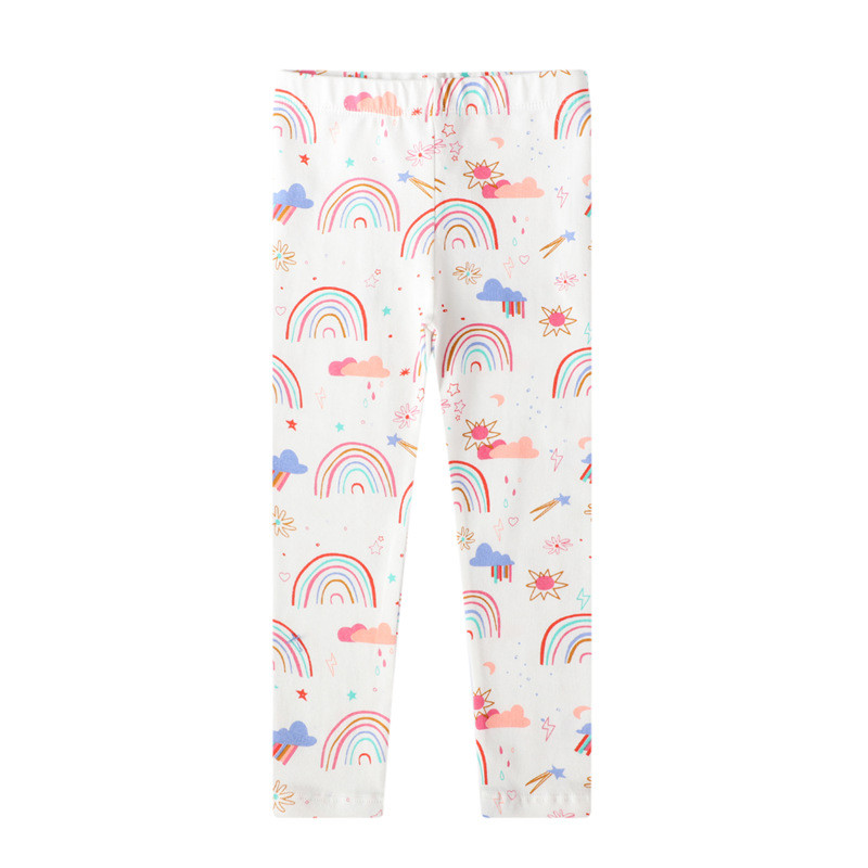 Toddler Kid Girl Print Rainbows Cotton Leggings Pants