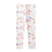 Toddler Kid Girl Print Rainbows Cotton Leggings Pants