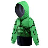 Toddler Kids Boy Marvel Superhero Green The Hulk Hooded Outerwear Coats