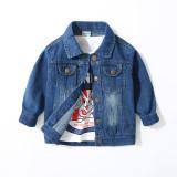 Toddler Kids Boy Buttons Denim Jacket Outerwear