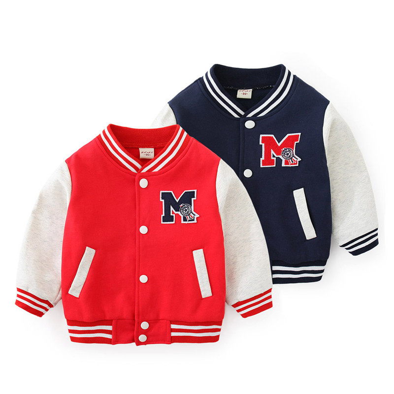 Toddler Kids Boy Print Letter Baseball Jacket Sports Outerwear