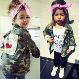 Toddler Kids Girl Print Love Heart Camouflage Pure Cotton Jackets Outerwear