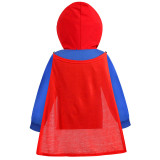 Toddler Kids Boy Marvel Superhero Superman Hooded Outerwear Coats With Cape
