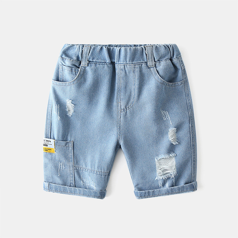 Toddler Boys Ripped Denim Denim Shorts Pants